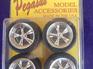 Pegasus 1274 1/24-1/25 T's Chrome Rims w/Tires (4)