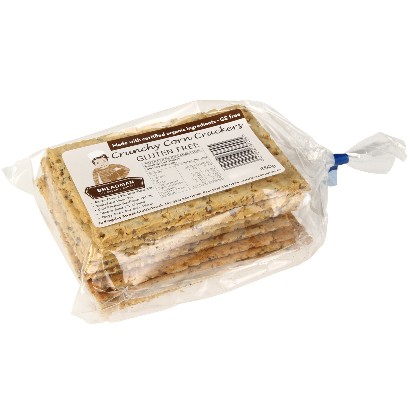 corn crackers bagged