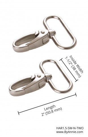 "1.5"" Swivel Hooks Nickel"