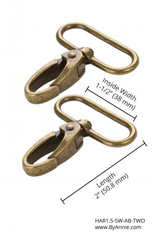 "1.5"" Swivel Hooks Antique Brass"