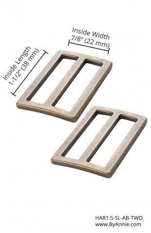 "1.5"" Widemouth Sliders Antique Brass"