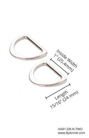 """1"""" Flat D-Rings Nickel"""
