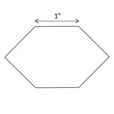 "1"" Honeycomb Acrylic Template"