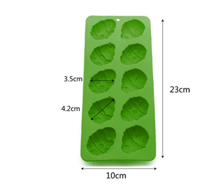 10 Cavity Easter Egg Silicone Mould
