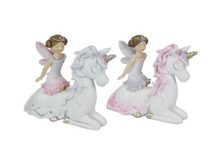 10 cm Sitting Fairy/Unicorn Frn