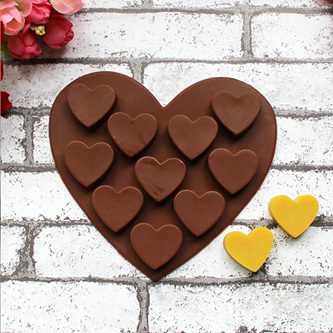 10 Heart Silicone Mould