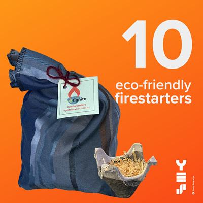 10-pack eco-firestarters
