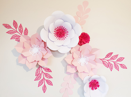 10 piece paper flower set
