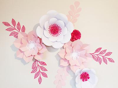 10 piece paper flower set