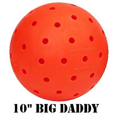 "10"" Big Daddy Unbreakoball Dog Ball Orange"