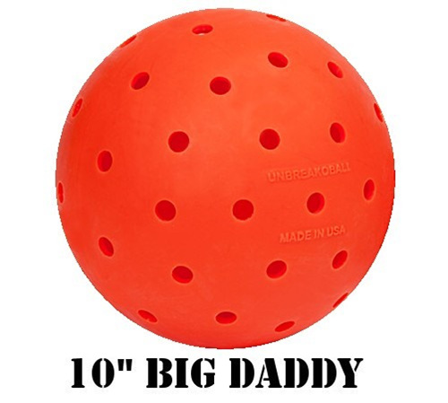 "10"" Unbreakoball, tough dog toy, orange ball"