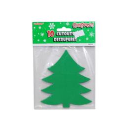 10 x Christmas tree Cutouts