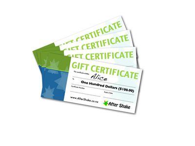 $100 After Shake Gift Certificate