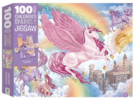 100 Piece Sparkly Jigsaw  - Unicorns