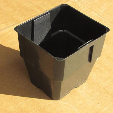100mm Square Black TAG Pot