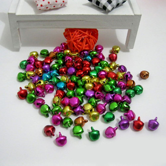 100pc Bell Beads Mixed Colour - 6mm