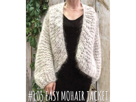 105 Touch Knitting Pattern Easy Mohair Jacket