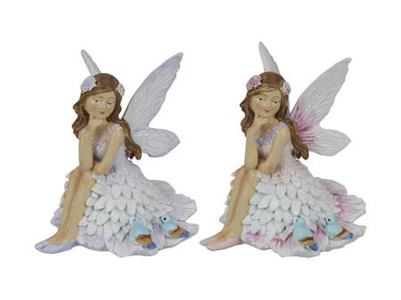 10cm Sit Petite Fairy W Birds