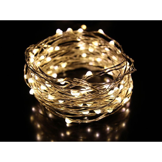 10m 100led Copper Sliver Wire Seed Fairy Lights Warm