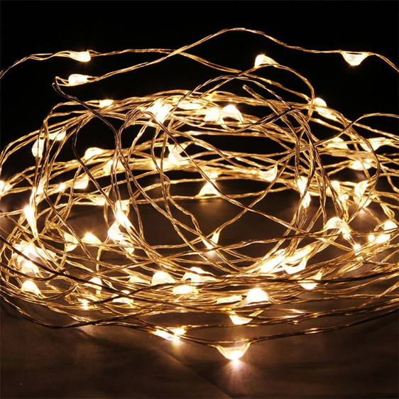 Battery String Lights Nz : 10m 100LED Copper Wire Seed Fairy Lights - Warm White - Party Lights Company