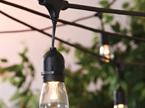 10m 18 bulbs One Color or  Multicolor Waterproof Outdoor Festoon Lights