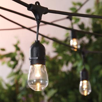 10m 18 bulbs One Colour or  Multicolour Waterproof Outdoor Festoon Lights