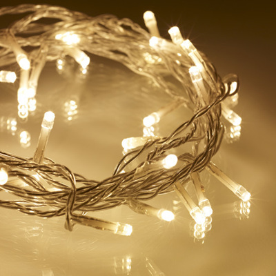 10m 80LED Battery Operated Fairy Lights - Warm White