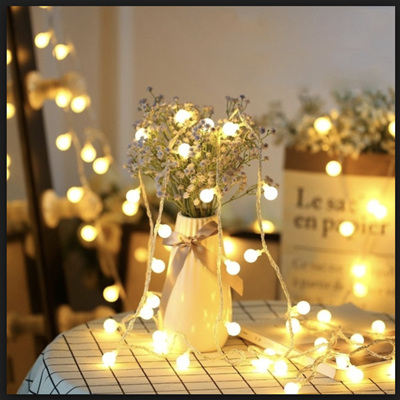 10m 80LED USB Candy Ball String Fairy Lights - Warm White