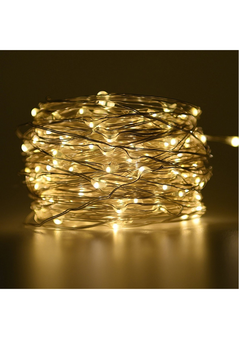 10m Solar Copper Or Silver Wire Seed Fairy Lights Cool