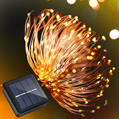 10m Solar Copper Wire Seed Fairy Lights - Cool White or Warm White