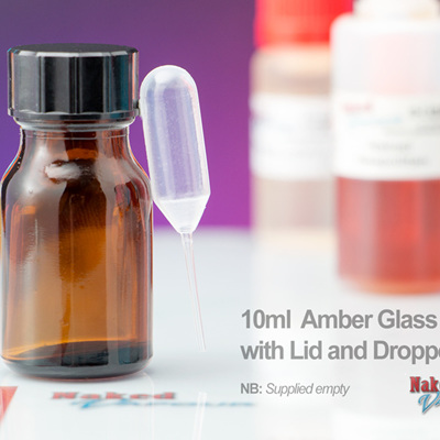 10ml Amber Glass Bottle with Lid and Dropper