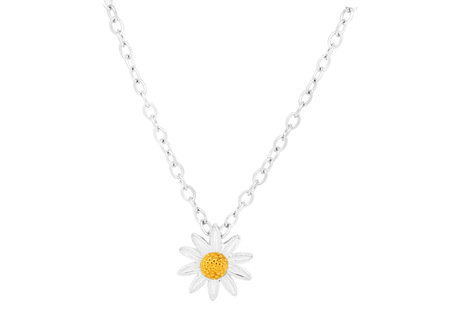 10mm Sterling Silver Daisy Pendant