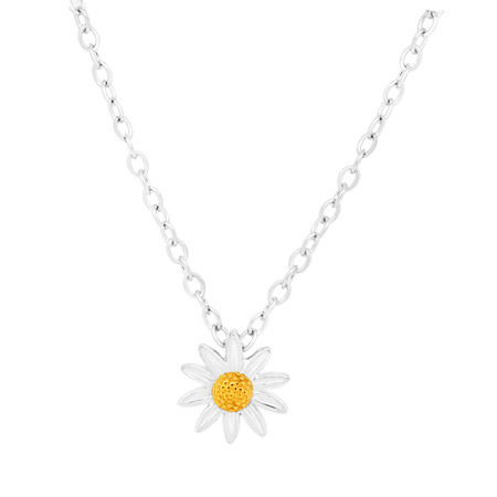 10mm Sterling Silver Daisy Pendant