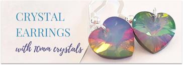10mm Swarovski Crystal Heart Earrings