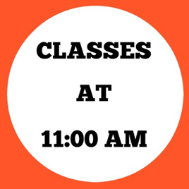 11:00 AM CLASSES