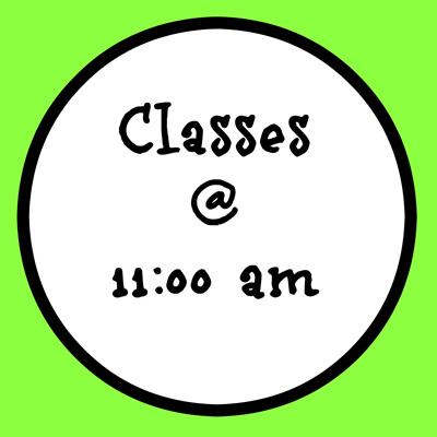 11:00 AM CLASSES