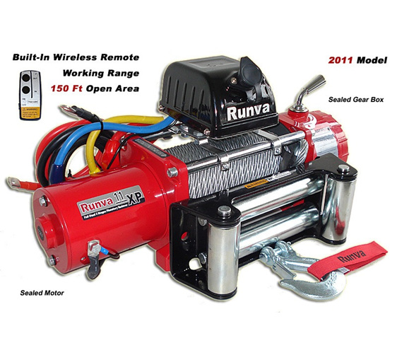 11XP (11,000lb) 12V / 24V Winch (With Steel Cable)