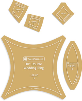 "12-1/2"" Double Wedding Ring Acrylic Templates"