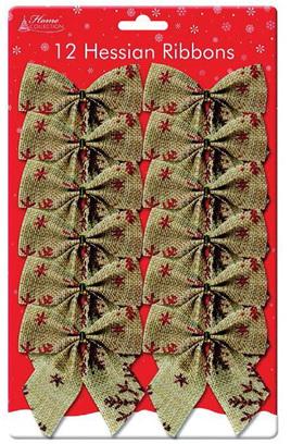 12 hessian small bows