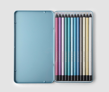 12 Metallic Colour Pencils - Printworks