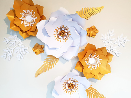 12 piece paper flower set