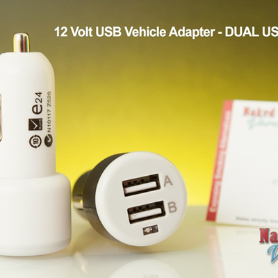 12 Volt USB Vehicle Adapter - DUAL USB PORT