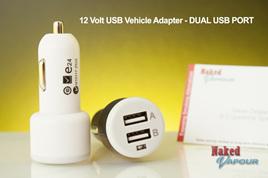 12 Volt USB Vehicle Adapter - DUAL USB PORT