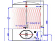 1200L conical pressure 2 Bar beer tank