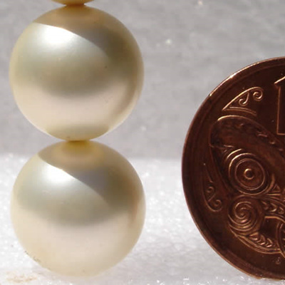 12mm Cream South Sea Shell Pearls