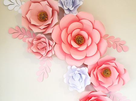 13 piece paper flower set