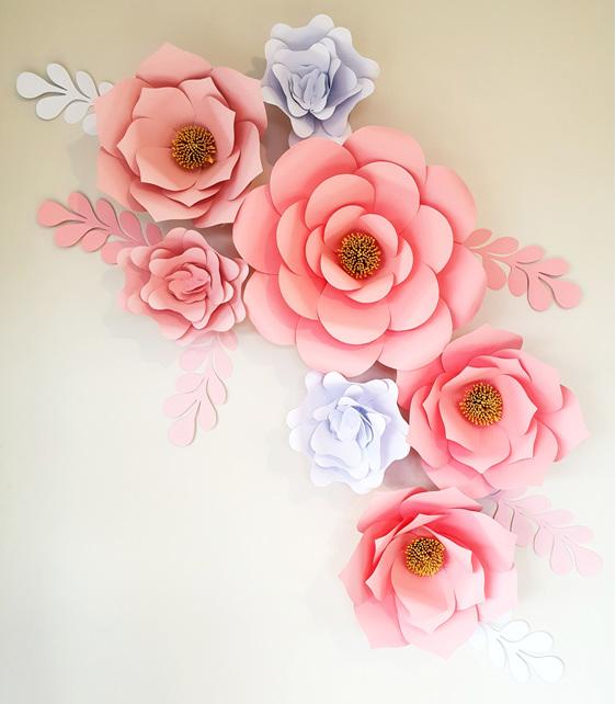13 Piece Paper Flower Set