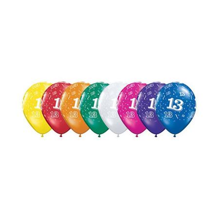13th Birthday Balloons x 1