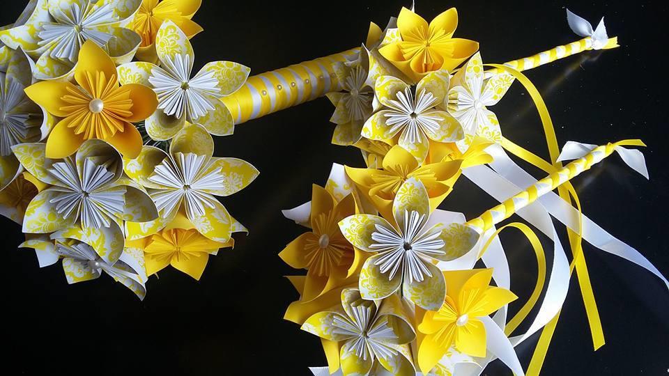 Handmade paper flower bouquets