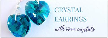 14mm Crystal Heart Earrings